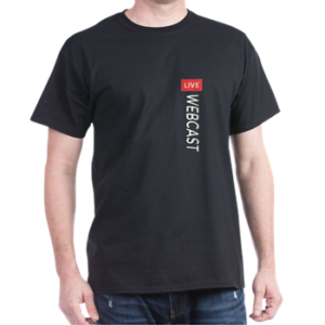 WEBCAST LIVE T-Shirt at CafePress