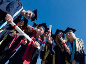 graduation video, white coat, school graduation