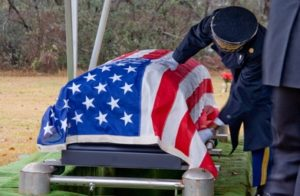 celebration of life, funteral miiltary funeral, flag on coffin