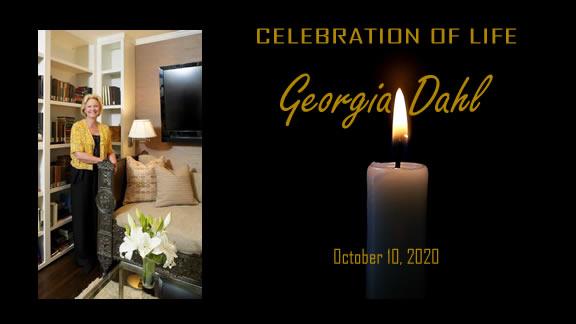 Georgia Dahl, celebration of life, live stream, memorial service